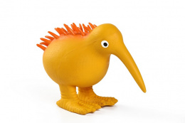 Hračka KIWI WALKER latex kiwi pískací oranžová 11,5cm