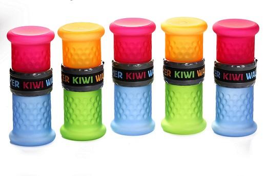 Cestovní láhev 2v1 Kiwi Walker oranžová/zelená 500+750ml