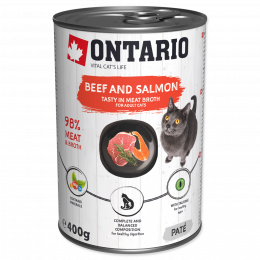 Konzerva Ontario Beef, Salmon, Sunflower Oil 400 g