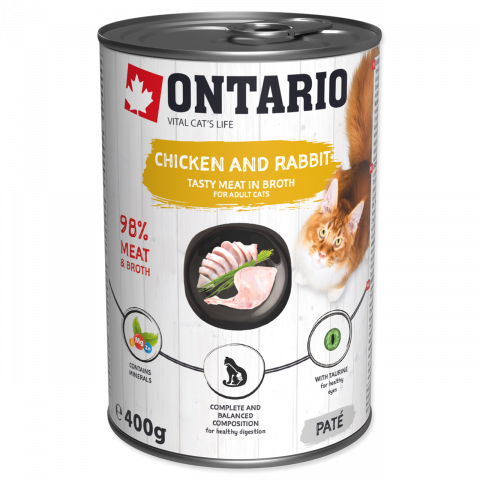 Konzerva Ontario Chicken, Rabbit, Salmon Oil 400 g