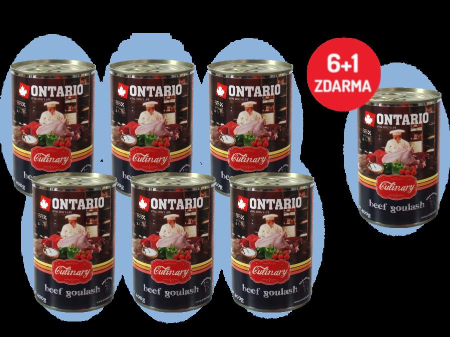 Konzerva Ontario Culinary Beef Goulash 400 g 6 + 1 ZDARMA