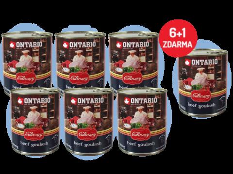 Konzerva Ontario Culinary Beef Goulash 800 g 6 + 1 ZDARMA