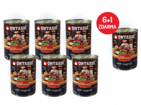 Konzerva Ontario Culinary Calf Ragout with Duck 400 g 6 + 1 ZDARMA
