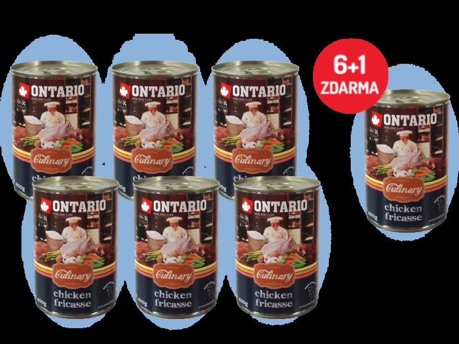 Konzerva Ontario Culinary Chicken Fricasse 400 g 6 + 1 ZDARMA