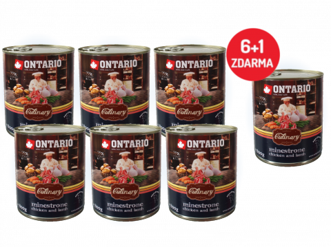 Konzerva Ontario Culinary Minestrone Chicken and Lamb 800 g 6 + 1 ZDARMA
