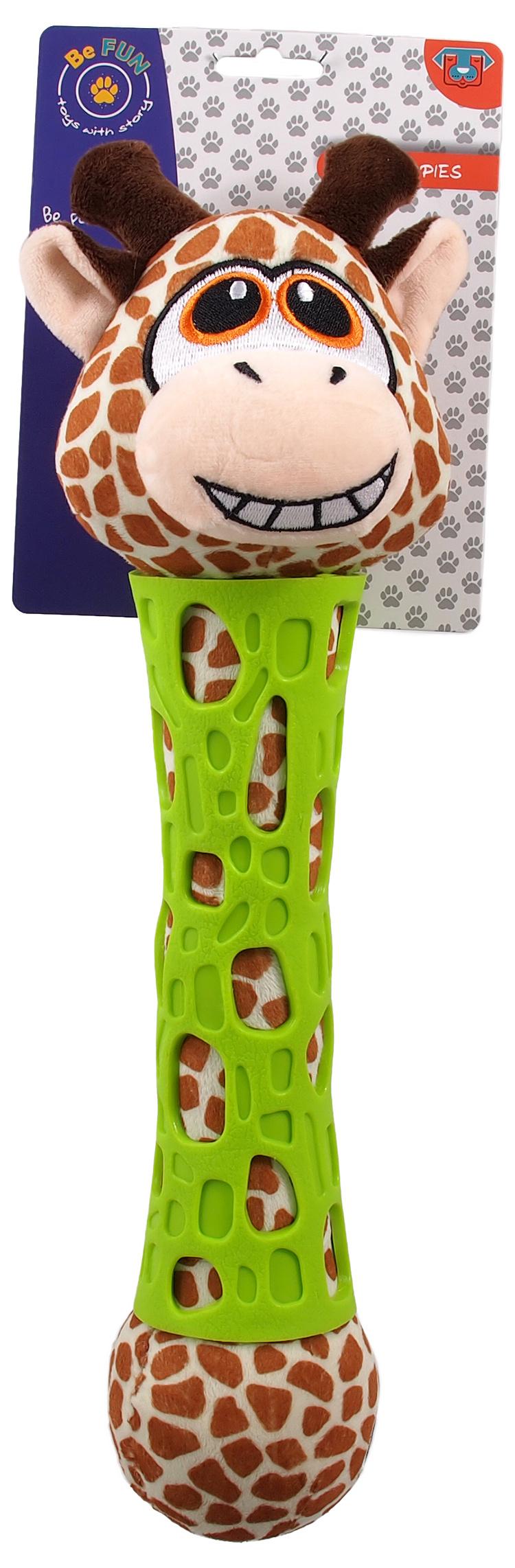 Hračka BeFun TPR+plyš puppy žirafa 39cm
