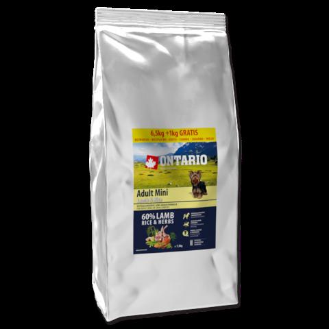 Ontario Adult Mini Lamb and Rice 6,5kg + 1kg zdarma