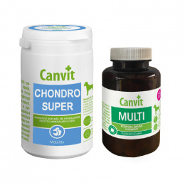 Canvit Chondro Super pro psy 230g + Canvit Multi 100g ZDARMA