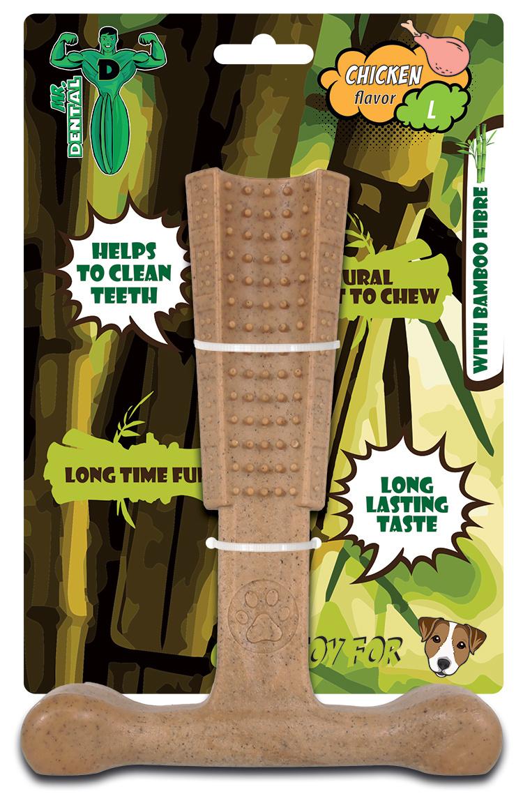 Hračka žvýkací Mr. Dental Bambone kladivo kuřecí L