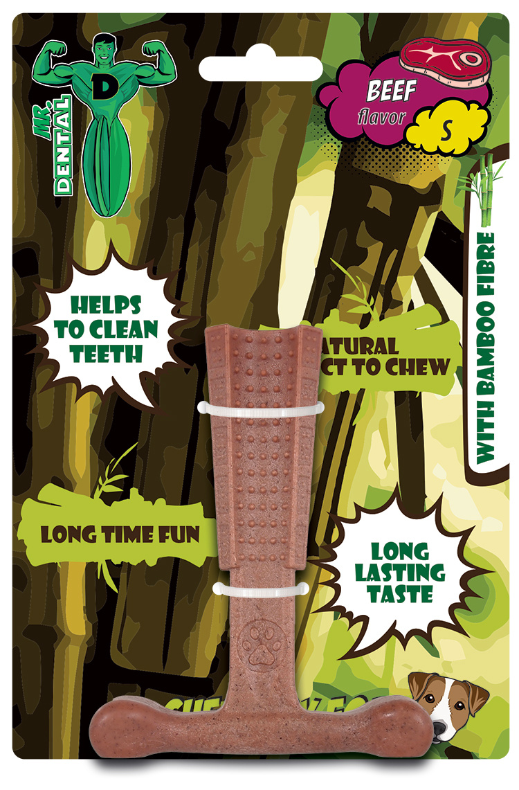 Hračka žvýkací Mr. Dental Bambone kladivo hovězí S