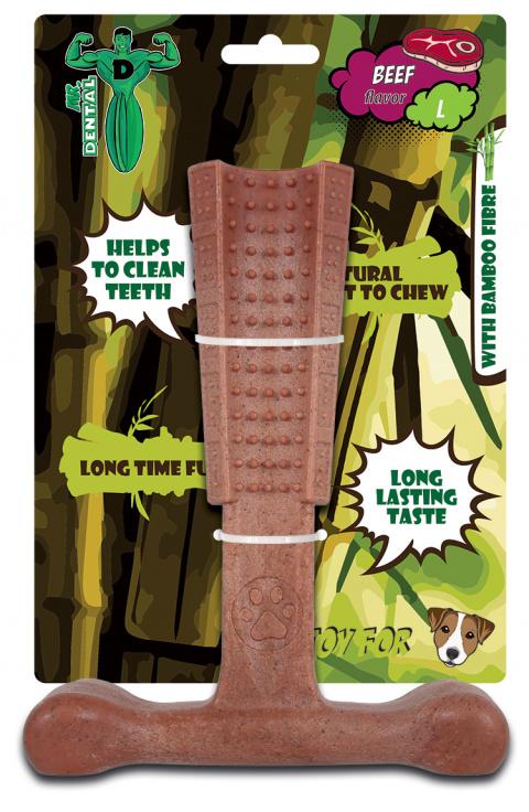 Hračka žvýkací Mr. Dental Bambone kladivo hovězí L