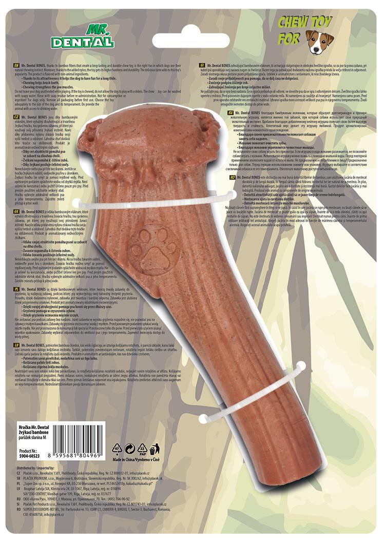 Hračka žvýkací Mr. Dental Bambone parůžek slanina M