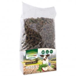 Krmivo Nature Land Complete granule pro zakrslé králíky 1,7kg + dárek, nádoba na krmivo