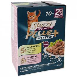 Kapsička Stuzzy Speciality Plus pro koťata kuře, šunka 12x100g
