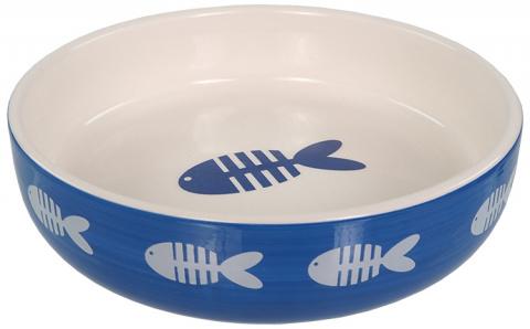 Miska Magic Cat keramická potisk ryba modrá 0,26l title=