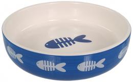 Miska Magic Cat keramická potisk ryba modrá 0,26l