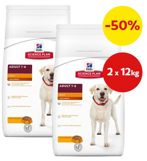 Hill´s Science Plan Canine Adult Large Breed Light 2x12kg
