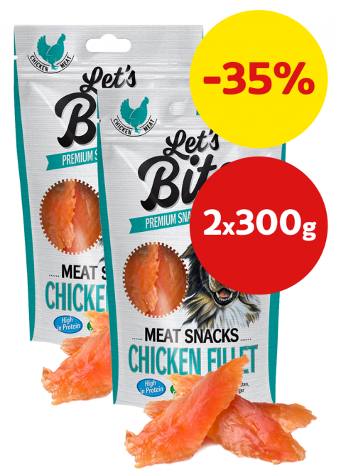 Brit Let´s Bite Meat Snacks Chicken Fillet 2x300g