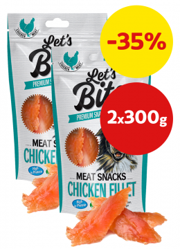 Brit Let´s Bite Meat Snacks Chicken Fillet 2x300g
