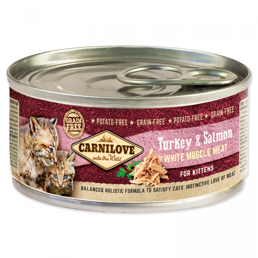 Konzerva Carnilove Turkey & Salmon for Kittens 100g