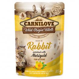Kapsička Carnilove Cat Pouch Kitten králík a měsíček lékařský 85g