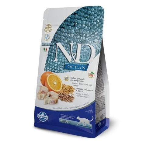 N&D Ocean Cat Low Grain Adult Codfish & Orange 5kg