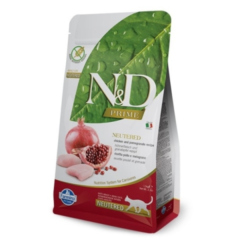 N&D Prime Cat Neutered Chicken & Pomegranate 1,5kg