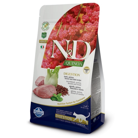 N&D Quinoa Cat Adult Digestion Lamb & Fennel 5kg