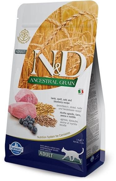 N&D Ancestral Grain Cat Adult Lamb & Blueberry 1,5kg