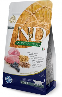 N&D Ancestral Grain Cat Adult Lamb & Blueberry 1,5kg