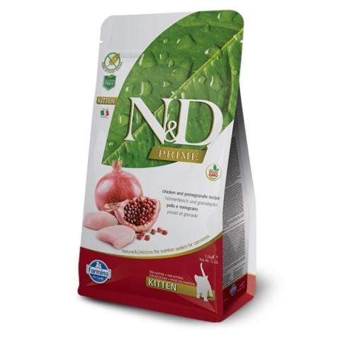 N&D Prime Cat Kitten Chicken & Pomegranate 1,5kg title=