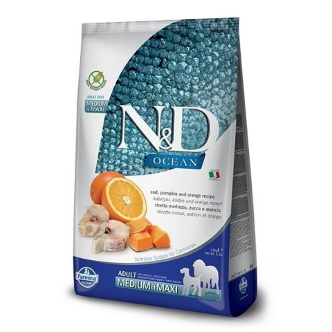 N&D Ocean Dog Adult M/L Codfish & Pumpkin & Orange 12kg