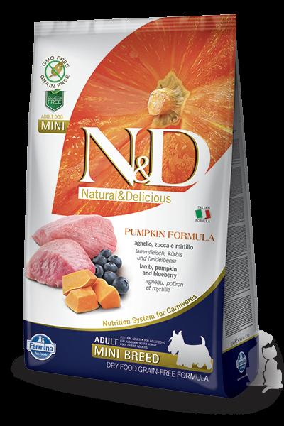 N&D Pumpkin Dog Adult Lamb & Blueberry Mini 2,5kg