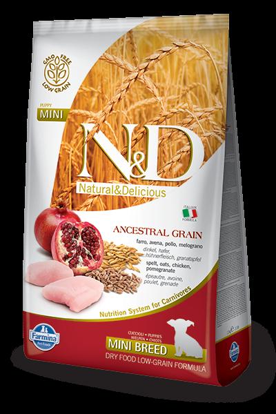 N&D Ancestral Grain Dog Puppy Mini Chicken & Pomegrate 7kg