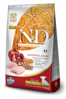 N&D Ancestral Grain Dog Puppy Mini Chicken & Pomegrate 800g