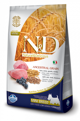 N&D Ancestral Grain Dog Adult Lamb & Blueberry Mini 2,5kg