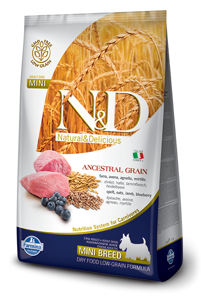 N&D Ancestral Grain Dog Adult Lamb & Blueberry Mini 7kg