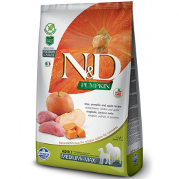 N&D Pumpkin Dog Adult M/L Boar & Apple 12kg