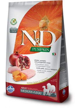 N&D Pumpkin Dog Adult M/L Chicken & Pomegranate 2,5kg