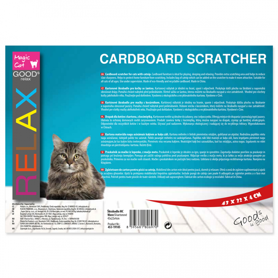 Škrabadlo Magic Cat Wave 5 kartonové 43cm