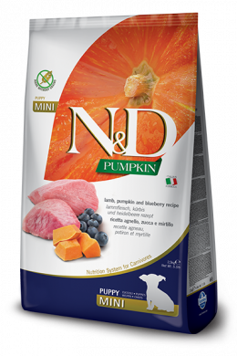 N&D Pumpkin Dog Puppy Mini Lamb & Blueberry 2,5kg