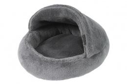 Pelíšek papuče 42cm šedá