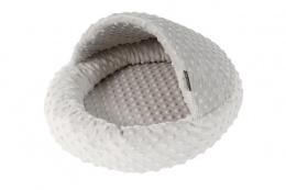 Pelíšek papuče Viki 42cm stříbrná