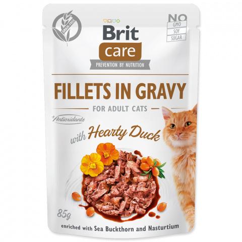 Kapsička Brit Care Cat Fillets in Gravy with Hearty Duck 85g title=