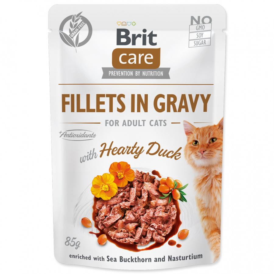 Kapsička Brit Care Cat Fillets in Gravy with Hearty Duck 85g