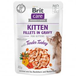 Kapsička Brit Care Cat Kitten Fillets in Gravy with Tender Turkey 85g