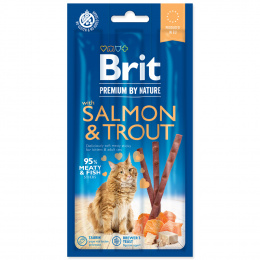 Tyčinky Brit Premium by Nature Cat Sticks with Salmon & Trout 3ks