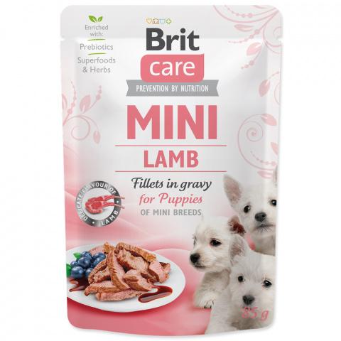 Kapsička Brit Care Mini Puppy Lamb fillets in gravy 85g title=