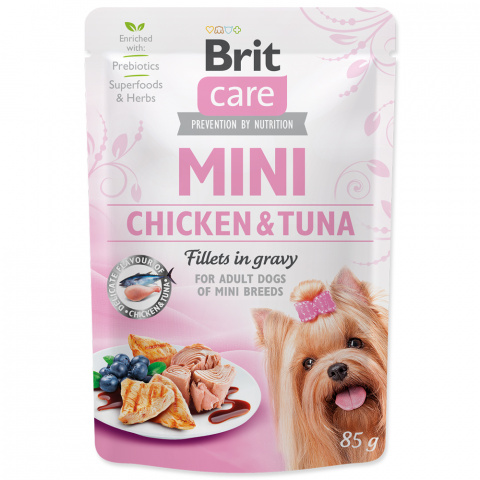 Kapsička Brit Care Mini Chicken & Tuna fillets in gravy 85g title=