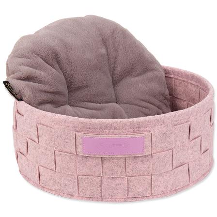 Pelíšek Scruffs Habitat Felt Bed 45cm růžový